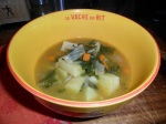 garlic and greens soup